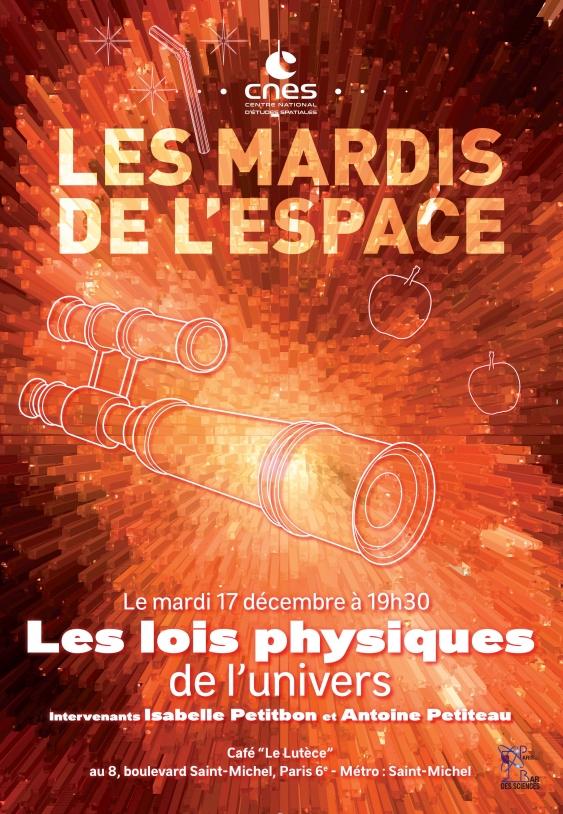 Affiche Mardi de l'Espace - univers décembre 2019
