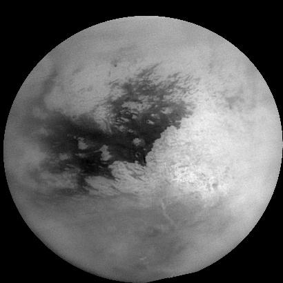 Vue de Titan réalisée par une mosaïque de 16 images ; crédits : Nasa/JPL/Space Science Institute