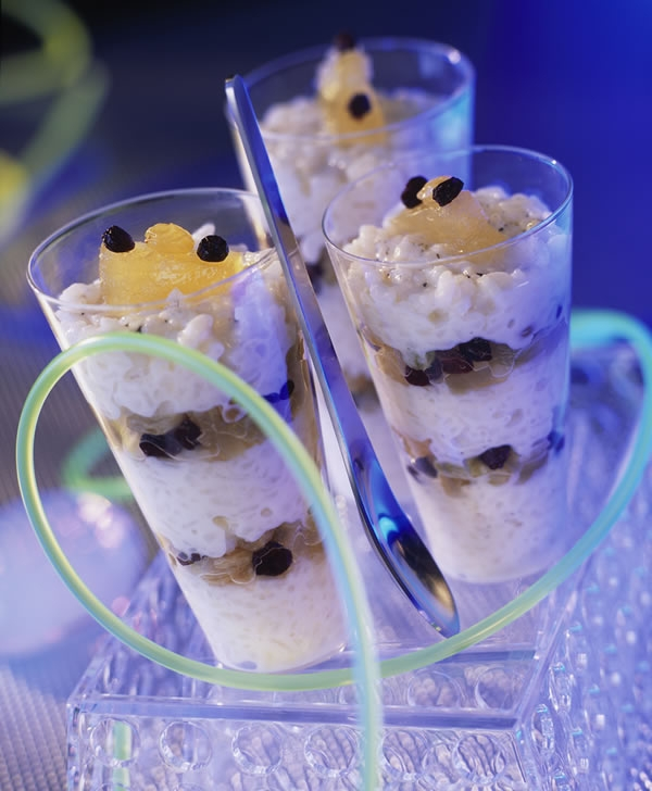 One of the ADF's dishes. Rice pudding with preserved fruit. Credits: Pierre Desgrieux