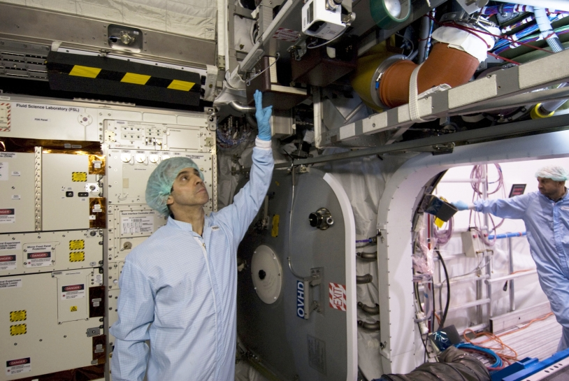 In the Columbus simulator at the European Astronaut Centre in Cologne, Germany. Crédits : ESA - S. Corvaja