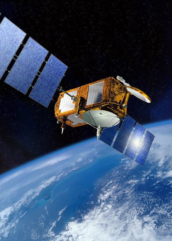 The Jason-2 satellite. Crédits : CNES, juin 2005/Illust. D. Ducros