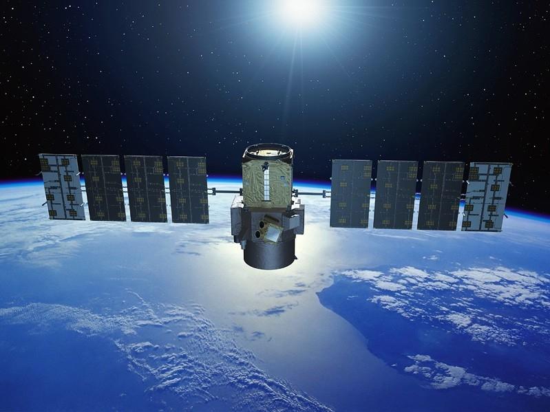 Le satellite Calipso étudie les effets des nuages et des aérosols sur le climat. Crédit : Ill. CNES/P. Carril.