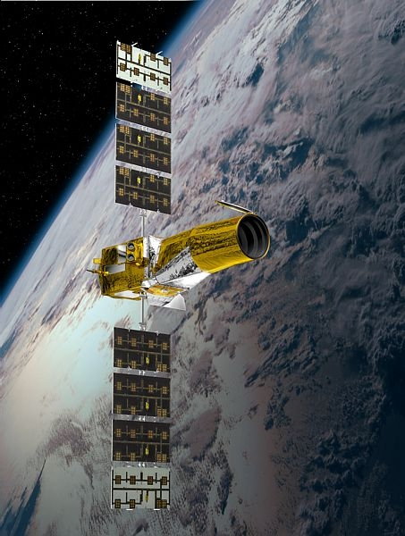 The COROT space telescope has been surveying the stars since 2006. Credit: CNES/Ill. D. Ducros.