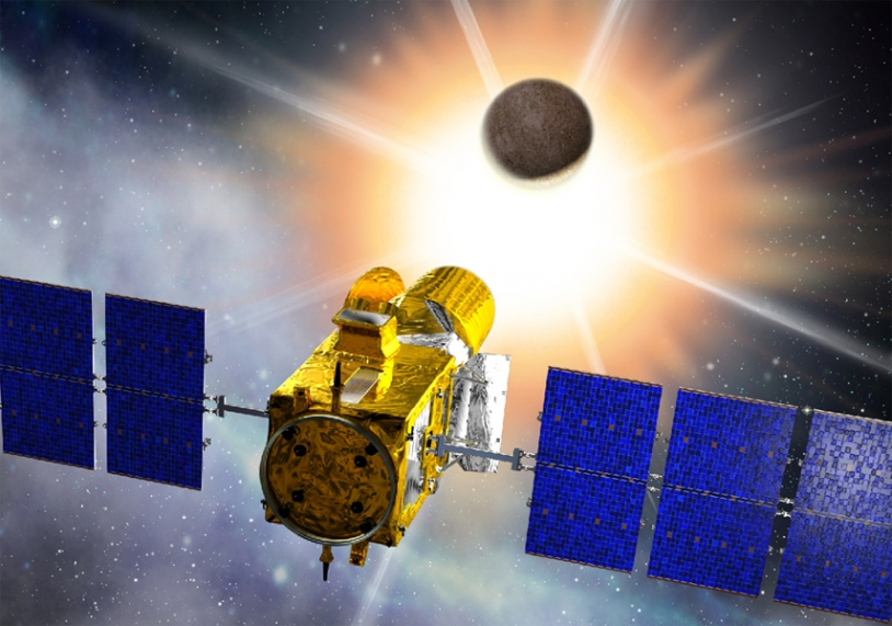 CoRoT was orbited in December 2006. Credits: CNES/Ill. D. Ducros.