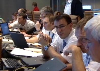 François Bermudo, chef de projet SMOS au CNES, pendant la phase de mise à poste de SMOS. Crédits : CNES.