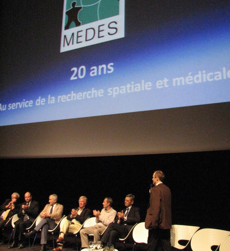 20 ans du MEDES, le 5 novembre dernier à la Cité de l'espace à Toulouse. Crédits : ESA/L.Guigno.