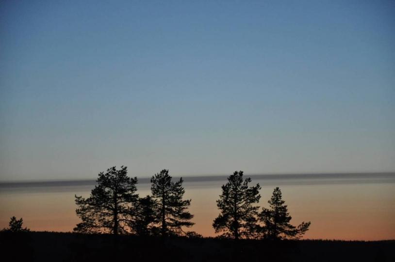 Sunset in Kiruna. Credits: CNES.
