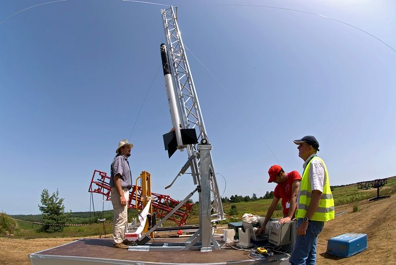 Experimental rockets will be soaring skywards again at this year's C'Space event. Credits: CNES/S. Girard.