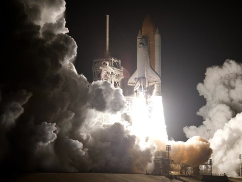 Déclic a été envoyé dans l'espace le 25 août dernier à bord de la navette Discovery. Crédits : NASA.