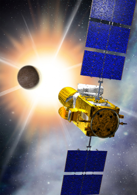 CoRoT satellite. Credits: CNES/Ill. D. Ducros.