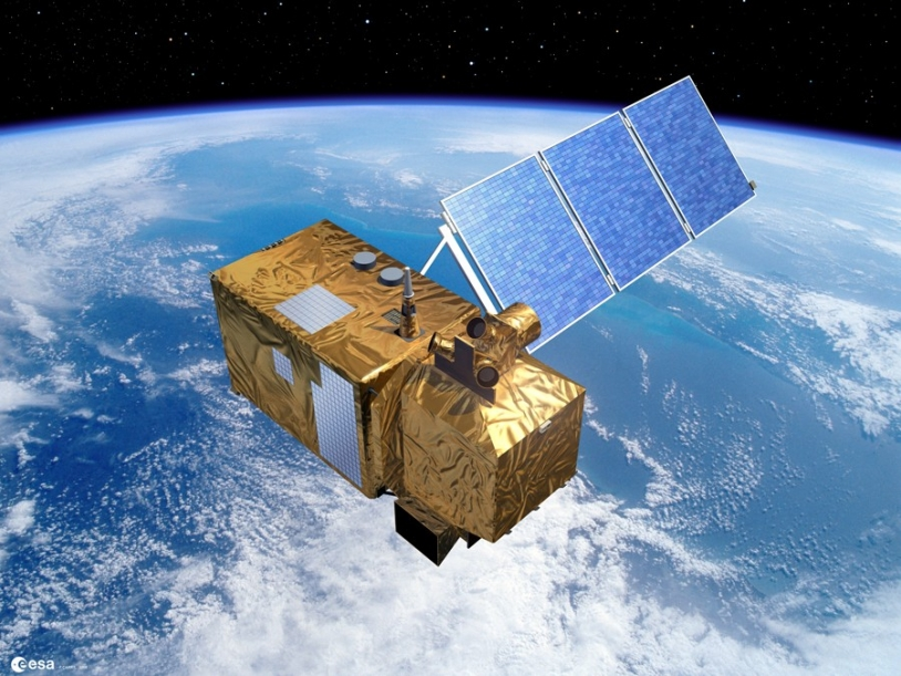The future Sentinel-2 satellite will observe global land surfaces for GMES. Credits: ESA/Ill. P. CARRIL.