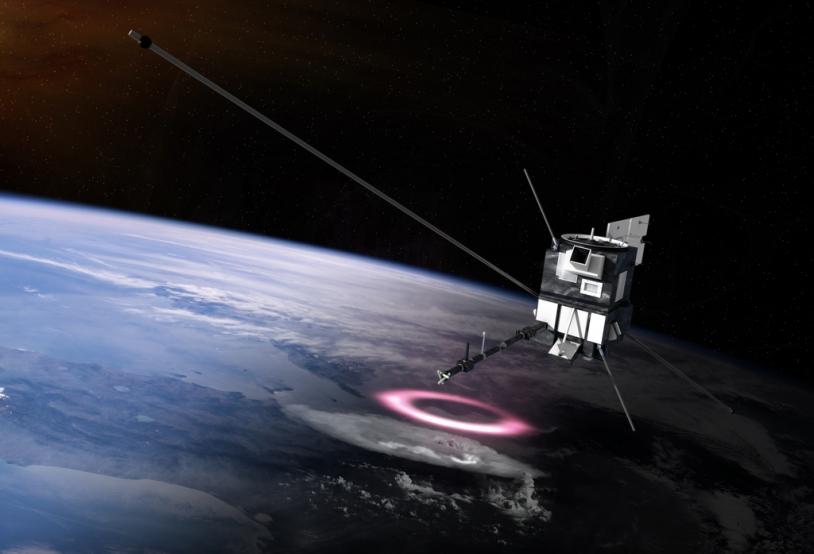Le microsatellite Taranis. Crédits: CNES/Ill. O. Sattler.