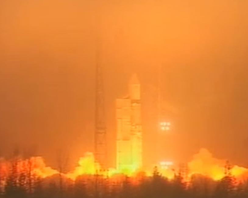 La fusée a décollé comme prévu à 13h02 (Paris) depuis le cosmodrome de Plessetsk, en Russie. Crédits : ESA.
