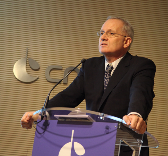 CNES President Jean-Yves Le Gall delivered his New Year wishes to members of the French and international press on 5 January 2015, in Paris. Credits: CNES/S. Charrier.